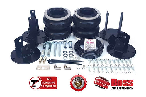 """BOSS 'DOUBLE' H.D. AIRBAG KIT NP300 NAVARA 'COIL' 4WD 2015 ON STD. HT.to 2"""" RSD."""