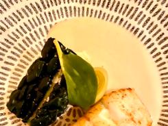 Hake w. lemon grass beurre-blanc, cavolo nero, sweet & sour leek