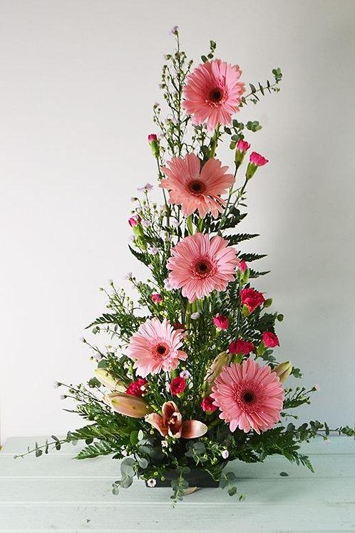 Høje lyserød gerbera dekoration