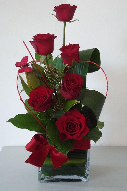 Rød roser dekoration