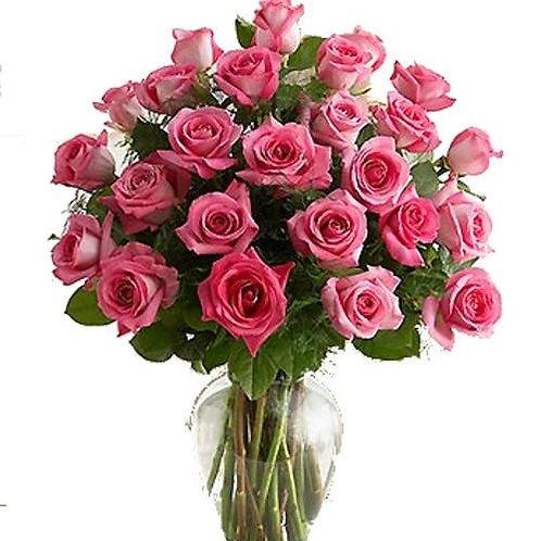 lyserøde roser buket