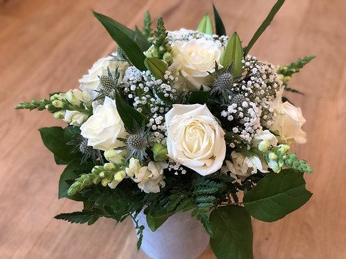 Hvid roser buket