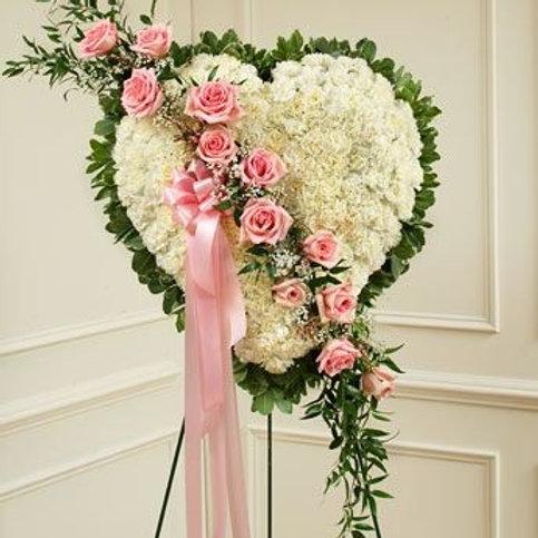 Stor hvid og lyserød hjerte