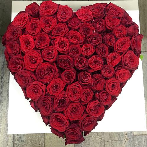 Rød hjerte kranse