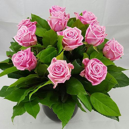 Romantisk buket med lyserøde roser