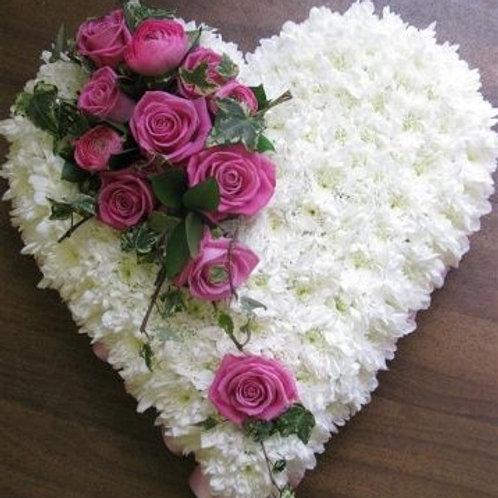 Hvid og pink hjerte