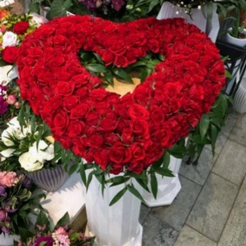 Rød hjertekrans