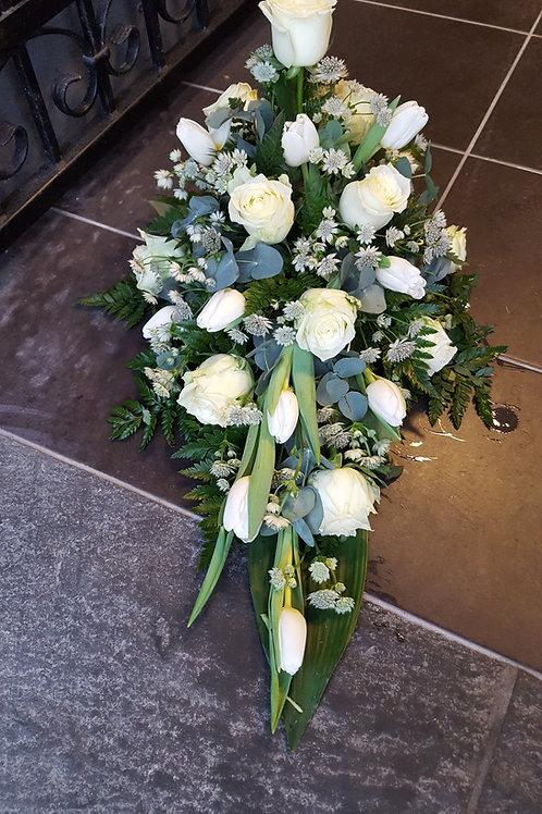 Hvid båre dekoration