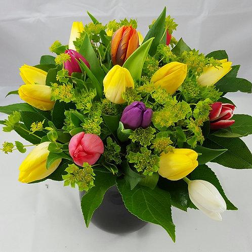 Blandede tulipaner buket