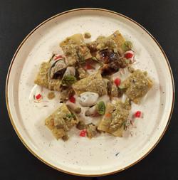 Paccheri al pesto di pistacchio