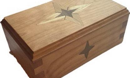 Cherry Inlayed Bethlehem Star Box