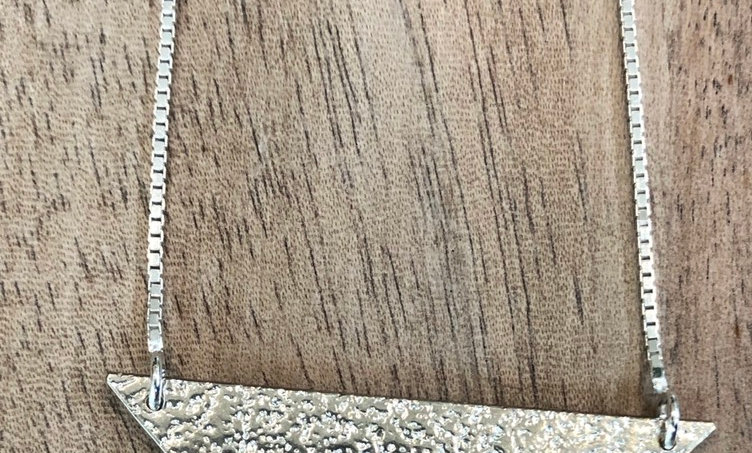 Sand Textured Triangle Pendant
