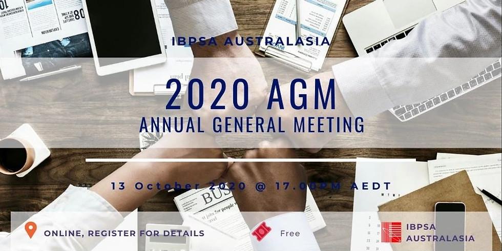 IBPSA Australasia 2020 Annual General Meeting