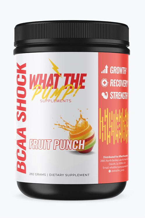 What the Pump BCAA'S Fruit Punch
