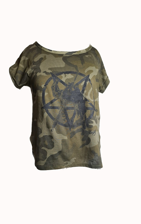 DEAL WITH THE DEVIL - Ladies Camo Tee