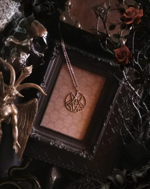"""Edelstahlanhänger """"Pentagram-Cross"""" Incl. Kette"""