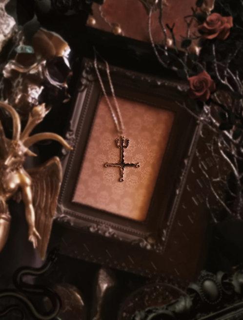 "Edelstahlanhänger ""Dissection Cross"" incl.Kette"