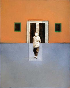 Woman with 2 windows