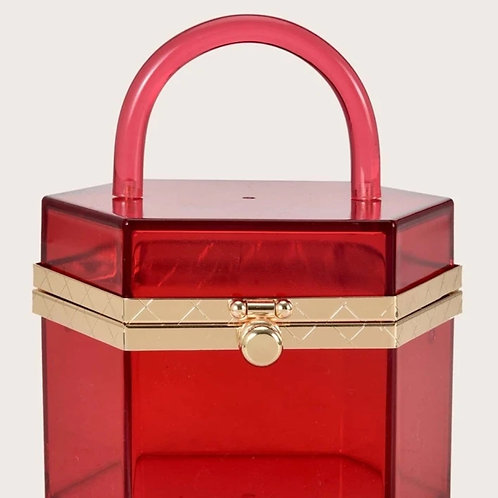 Red clear bag