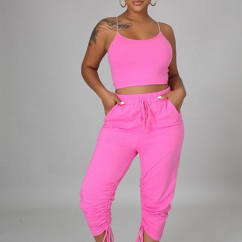 Pink girl pants set