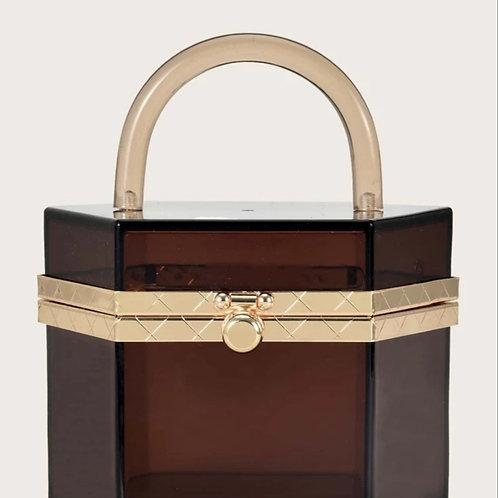Brown Clear bag