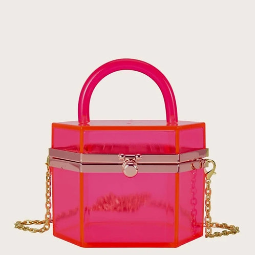 Pink clear bag