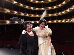 Viletta and Annina before the show