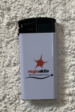 Feuerzeug Werbeagentur regioaktiv