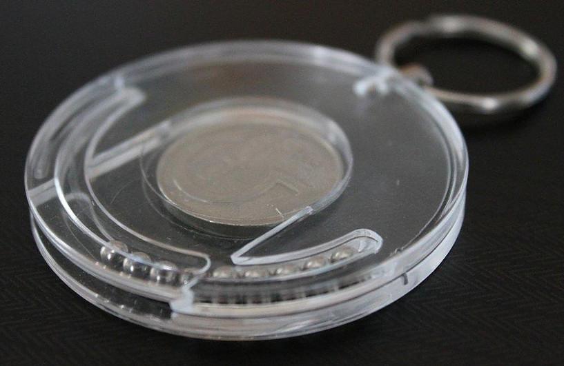 Schlüsselanhänger mit Münze