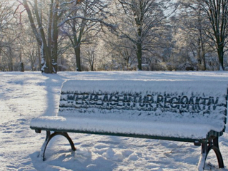 Werbung im Schnee