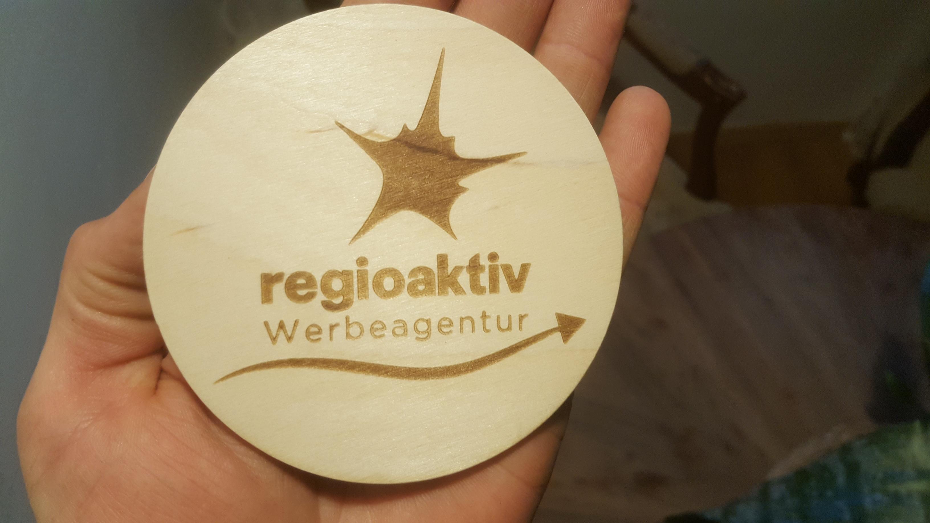 Bierdeckel aus Holz, 6er-Set 14,90€