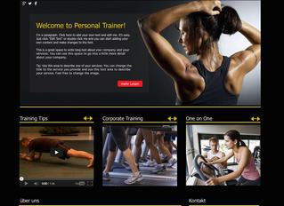 Homepage Design für Personal Trainer D.T.