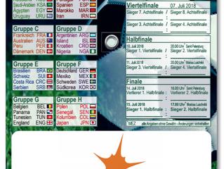 Fußball WM Parkscheibe mit Spielplan