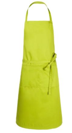 Twill-Gewebe aus 65 % Polyester und 35 % Baumwolle 1 m lange Taillenbänder Maschinenwäsche Zwei Taschen auf Vorderseite