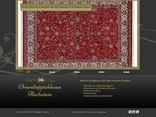 Neue Homepage für das Orientteppichhaus Herbstein