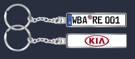 Schlüsselanhänger Nummernschild