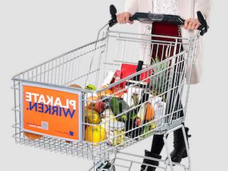 Werbung am Einkaufswagen