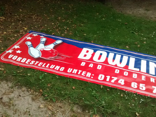 Werbebanner Bowling