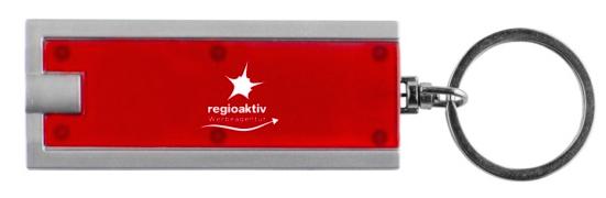ABS-Kunststoff und geteilter Schüsselring aus Metall Schlüssellicht mit weißer LED und Druckschalter 3 Knopfzellenbatterien erforderlich (inbegriffen)