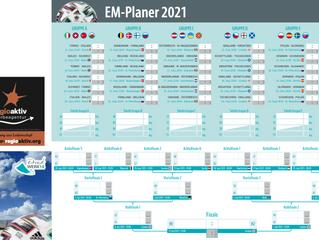EM Planer 2021 mit Firmenlogo & XXL Werbeflächen