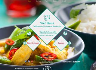 Homepage für das Viet Haus