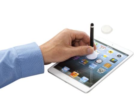 Stylus-Kugelschreiber und Bildschirm