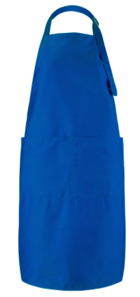 65/35 polyester/cotton material Features an easy-care finish Includes two large front pockets Neck strap with adjustable buckle Machine washable at 60°C