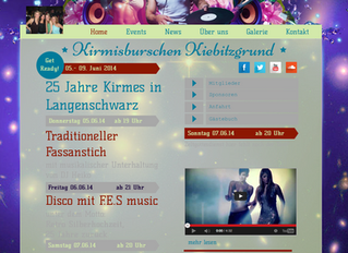 Homepage Design für die Kirmisburschen Kiebitzgrund