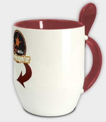 Kaffeebecher mit Löffel