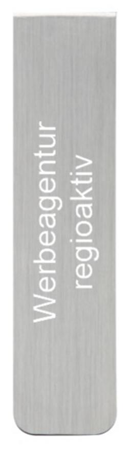 Lesezeichen aus Aluminium