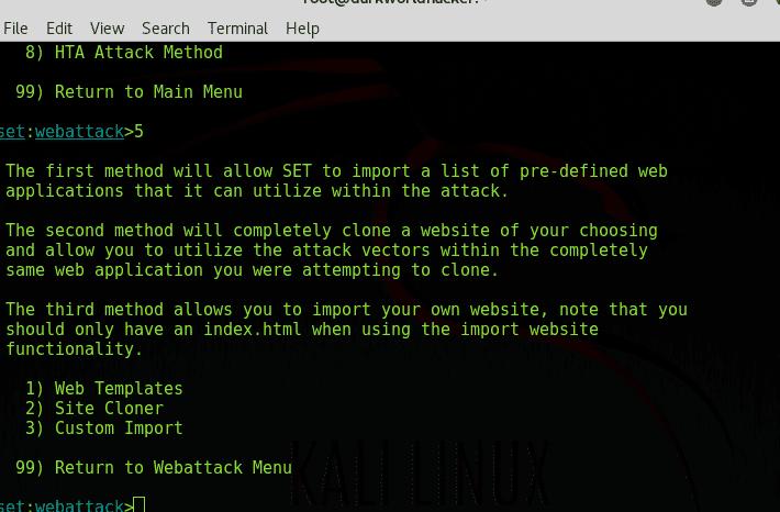 SEToolkit   Kali Linux SEToolkit    for android