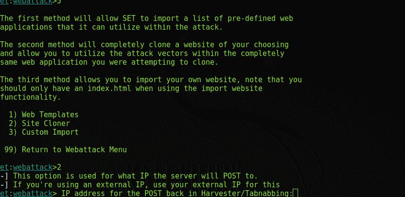 SEToolkit   Kali Linux