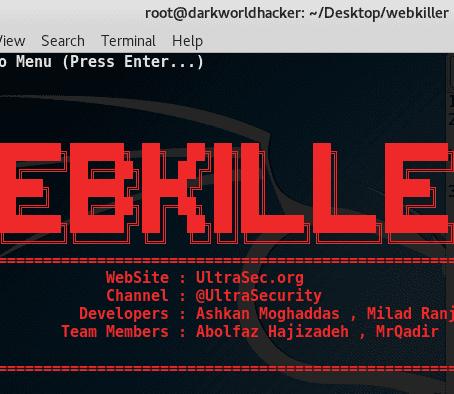 Webkiller : Information Gathering Tools