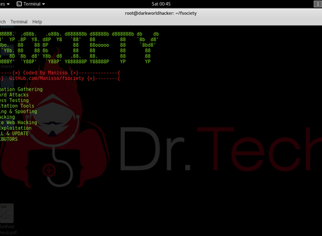 Fsociety  tools  in Kali linux  ( Mr. Robot)